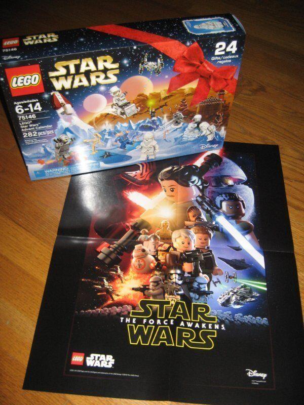 LEGO STAR WARS 2016 ADVENT CALENDAR pcs BONUS Force Awakens POSTER
