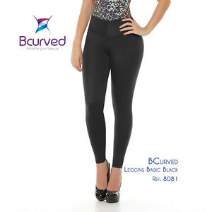 0bf527b52 Bcurved 8081 Women s Leggings With Internal Body Shaper Butt Lifter ...