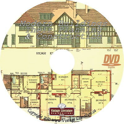 1905 Modern Buildings ~ Vintage Commercial Design and Construction Book on DVD