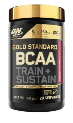 Optimum Nutrition BCAA TRAIN /& SUSTAIN 266g//28 SERVINGS Raspberry Pomegranate