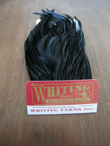 Fly Tying-Whiting Farms Bugger Pack Black
