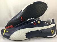 Puma Ferrari Future Cat Shoes Leather Sf 10 Anniversary Blue White Sneaker