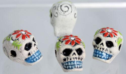 Céramique sugar skull bead lots x 1 Pendentif Crâne Bead