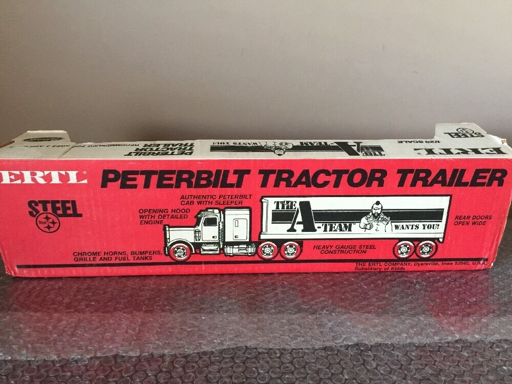 Vintage 1983 ERTL THE THE THE A-TEAM 1/25 Scale Peterbilt Tractor Trailer Mr.T -RARE- a94402