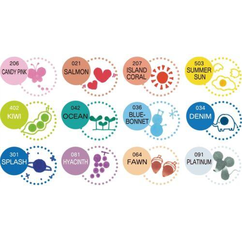 couleurs assorties KURETAKE ZIG CLEAN COLOR Dot Double Pointe Marqueurs 4//pkg
