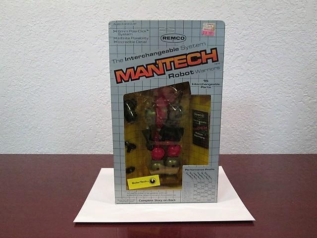 1983 ManTech robot guerreros  Solar tech  figura menta Sellado ENLOMADOR Remco