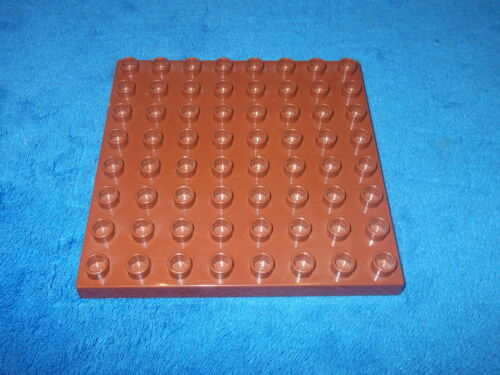 Lego Duplo Schloss Ritterburg Zoo 8 X 8er Noppen Bauplatte Platte dunkel Braun c
