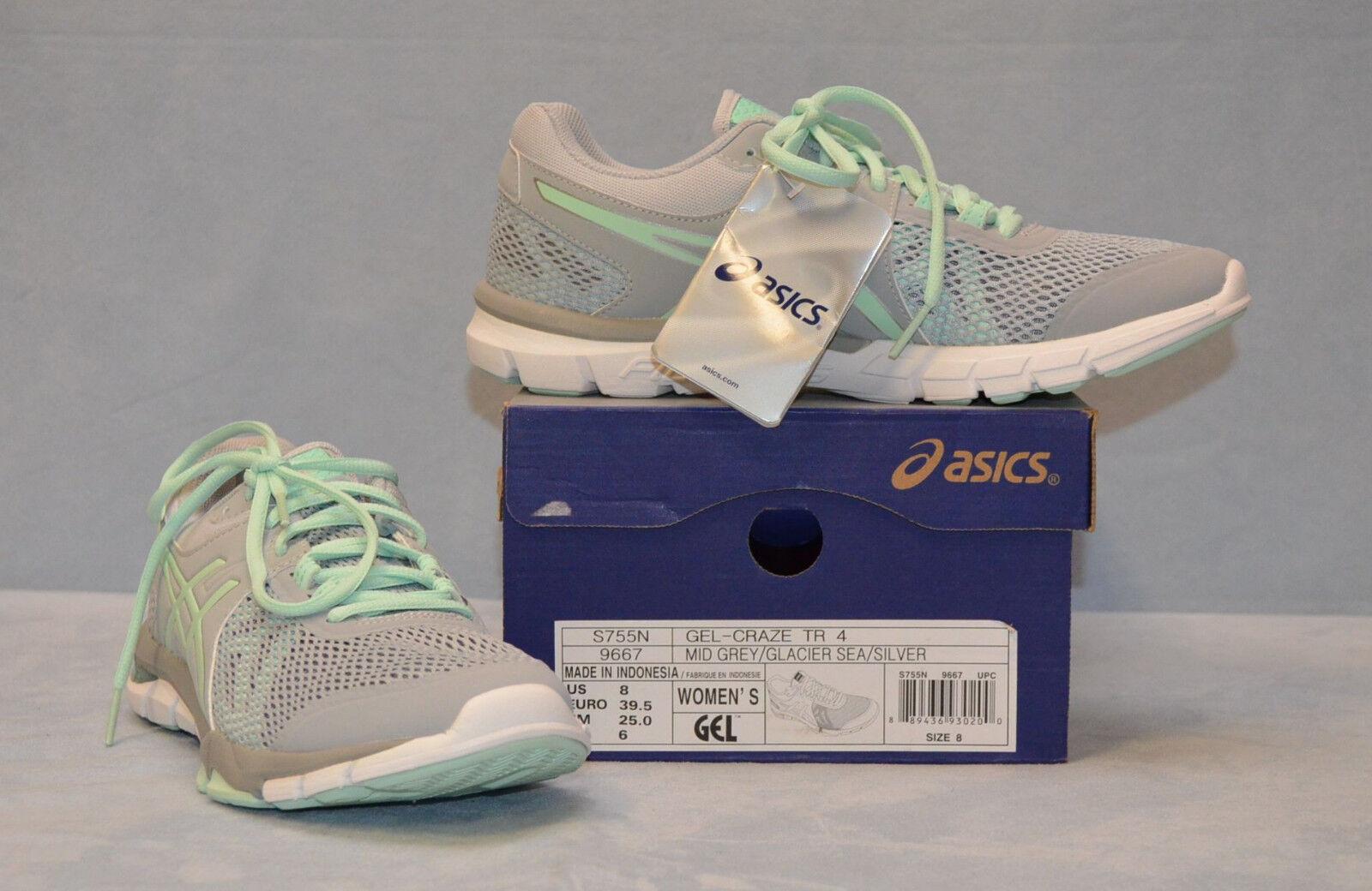 B0 NEW ASICS Gel-Craze TR 4 Mid Grey Glacier Sea Sea Sea Slvr Running shoes S755N Sz 8 M aa6ac3
