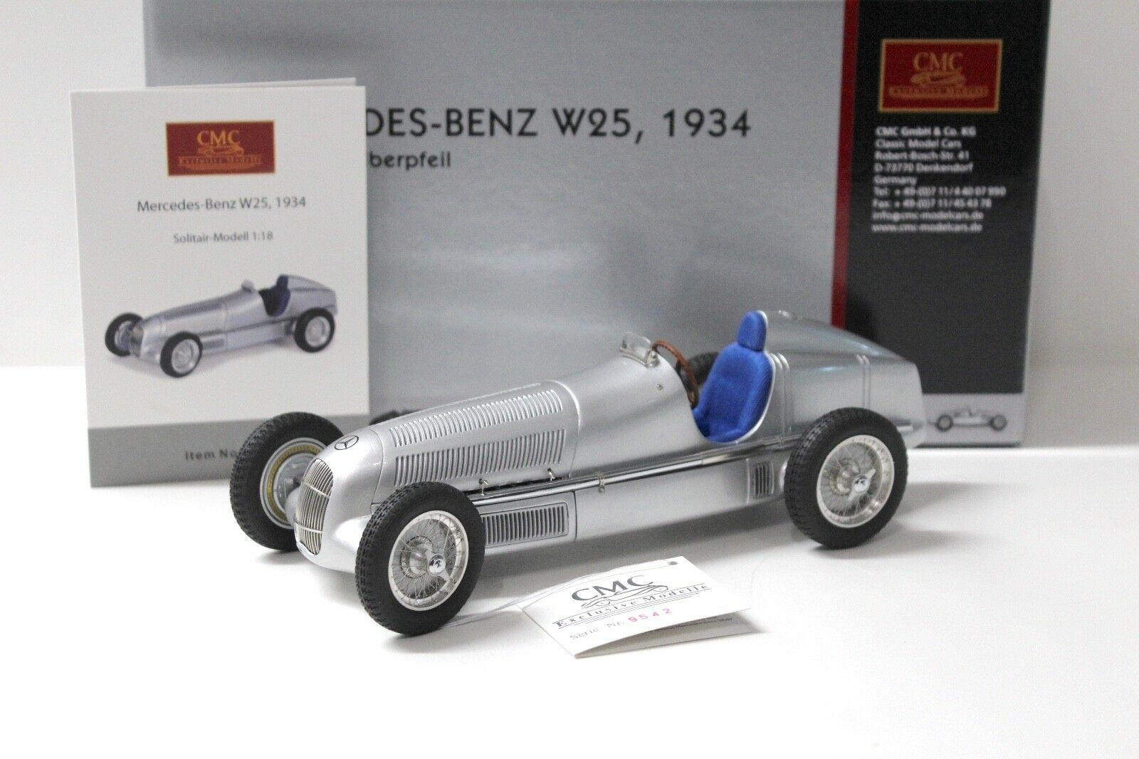 1:18 CMC Mercedes-Benz w25 Argent Flèche 1934 Silver New New New chez Premium-modelcars | Nouveau Produit  | D'avoir à La Fois La Qualité De Ténacité Et De Dureté  | L'apparence élégante  822ab8