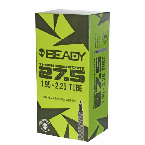 "Beady Thorn Resistant Tube 27.5x1.95-2.25/"" Presta Valve 48mm"