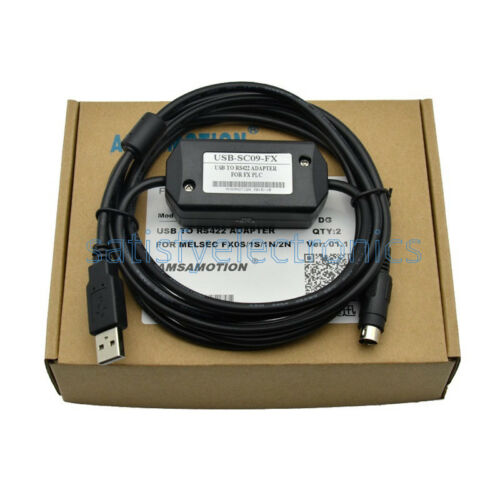 1PC PLC Programming USB-SC09-FX Cable For Mitsubishi MELSEC USB TO RS422 ADAPTER