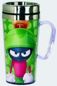 Looney Tunes Acrylic & Stainless Steel Travel Mug with Handle Marvin The Martian