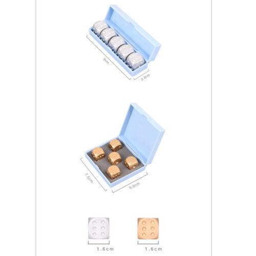 Packung Mit 5 Stü Aluminiumlegierung Metall Gold Würfel Würfel Geschenk Für