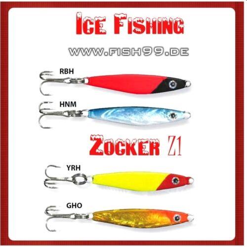 Eisangel Zocker Sortiment               Set Z1 Barsch Zocker       Ice Fishing