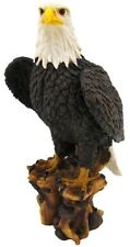 "Large 17"" Tall American Pride Bald Eagle Sculpture Figurine Statue Bird Kingdom"