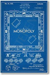 Monopoly-Patent-NEW-Vintage-Invention-Patent-Poster