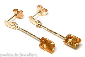 9ct-Gold-Citrine-Dangly-Drop-Earrings-Made-in-UK-Gift-Boxed