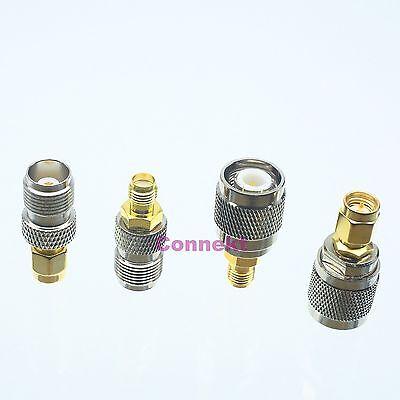4pcs//set BNC /& TNC kit male plug female jack RF coaxial adapter connector