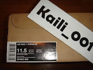 0f7b64cc767 Nike Air Max 1 Premium Size 11.5 Parra 2010 394805-600 BRS Powerwall Patta D