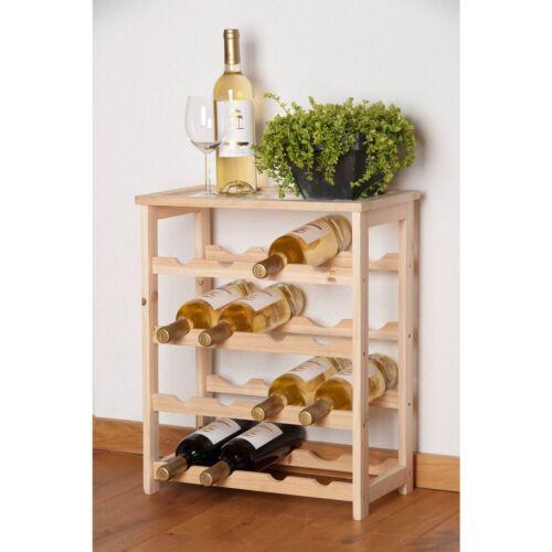 46 x 23 x 55 cm Rack Vin élégant Woody pour 16 bottels