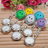 Lovely Smiling Face Shaped Clip On Fob Brooch Pendant Nurse Hanging Pocket Watch