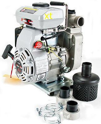 "Portable 2.5HP Gas Water Pump semi Trash 1.5"" NPT  air cooled engine Industrial"