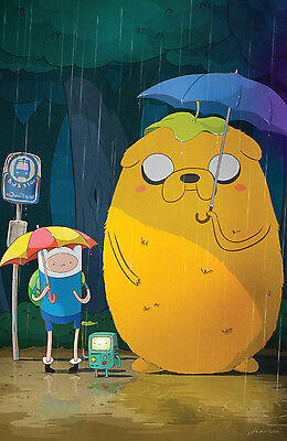 """Adventure Time - With Finn & Jake TV Series Fabric poster 20"""" x 13"""" Decor 17"""