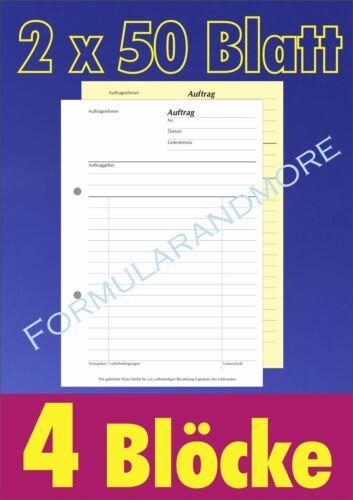 bzw Wochenabrechnung DIN A4 2-fach durchschreibend Block á 50 Satz Stunden