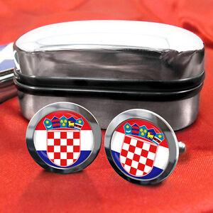 Croatia-Croatian-Hrvatska-Coat-of-Arms-Cufflinks-amp-Box