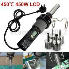 220V 450℃ GJ-8018 LCD 450W LCD Soldering Station Hot Air Gun Desolder + Nozzles