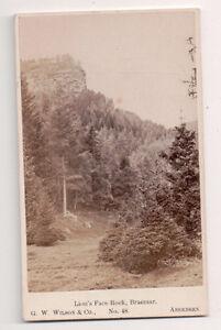 Vintage-CDV-Lion-039-s-Face-Rock-Braemar-G-W-Wilson-Photo-Aberdeen