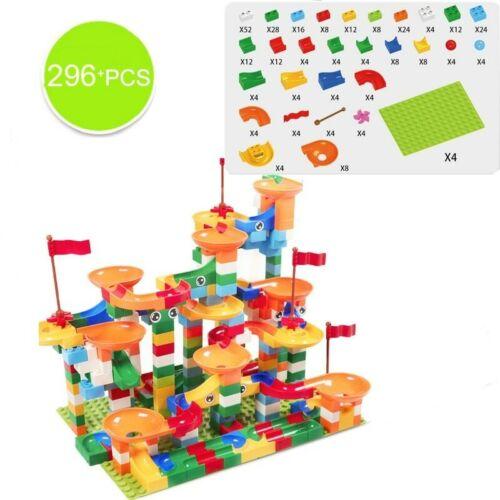 Marble Race Run Block 74-296pc Building Blocks Funnel Slide Educational Toy