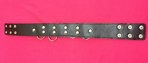 Faux//PU Leather Studded neck Collar with Lead Rings Collar Restraints