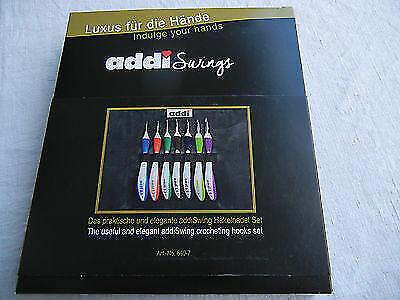 Addi Swing Etui mit 7 Swing H/äkelnadeln in St/ärke 2-8