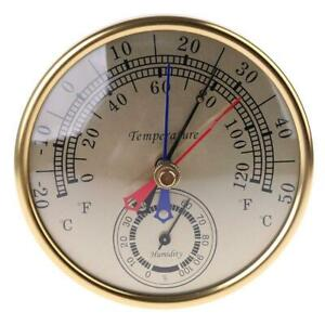 """5"""" Min Max Thermometer Hygrometer Wall Mount Hanging Analog Temperature Humidity"""