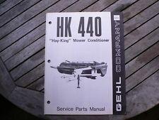Gehl Hk440 Hay King Mower Conditioner Service Repair Parts Manual Catalog List