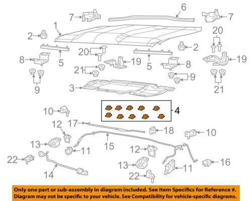 Jeep CHRYSLER OEM 15-18 Renegade Hood-Insulator Retainer 68073364AA