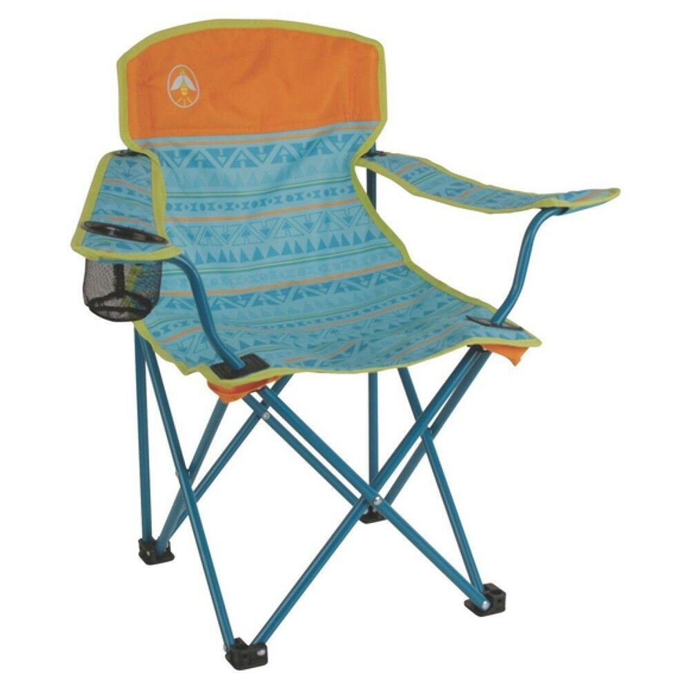Coleman Kids Folding Chair with Cup Holder and Carry Bag TEAL