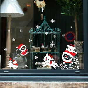 image is loading merry christmas snowflakes decal wall sticker vinyl art - Merry Christmas Window Decorations