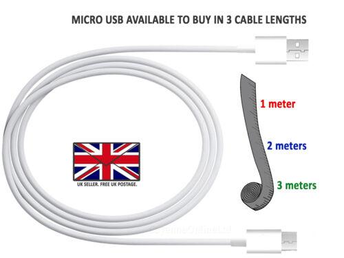 Blackberry Z3/Z10-Micro USB Cable de transferencia de datos Plomo/rápido de Reino Unido Cargador De Pared