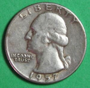 Image Is Loading 1957 US Silver Washington Quarter Circulated