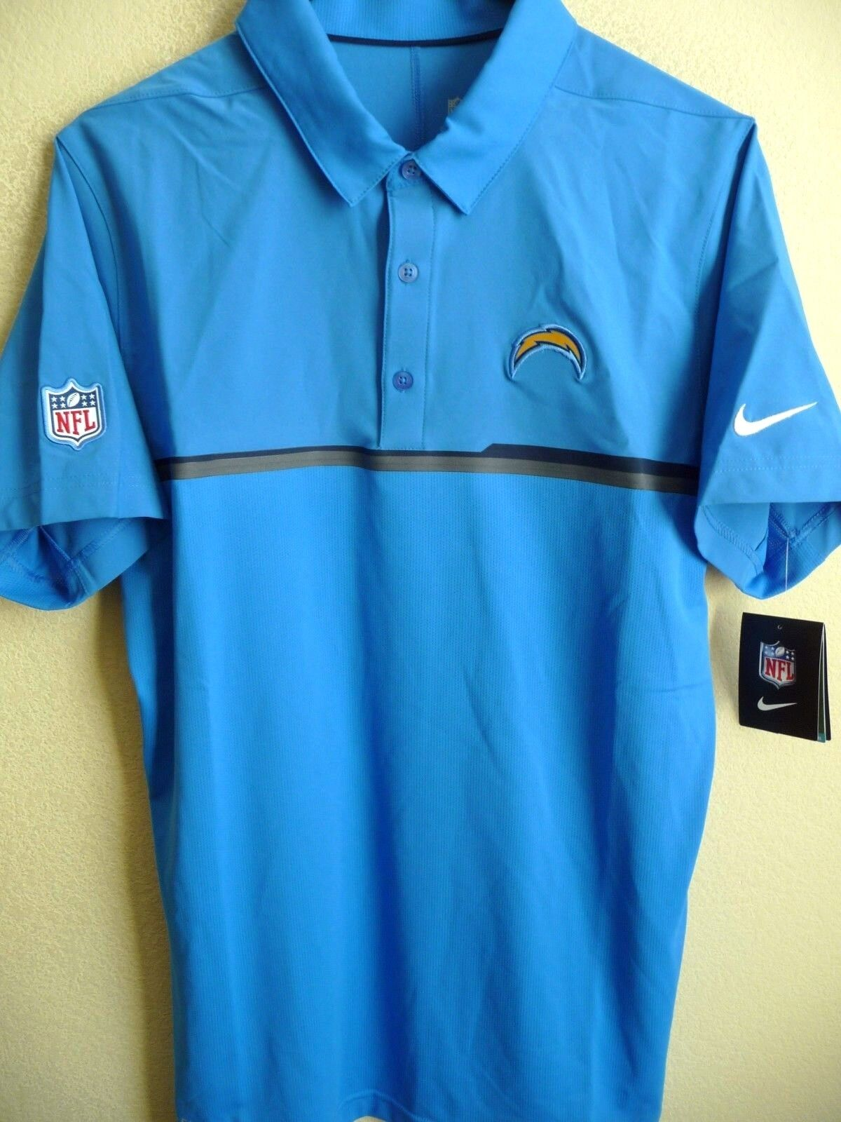 Nfl Nike Los Angeles Chargers Football Polyesterspandex Polo Shirt
