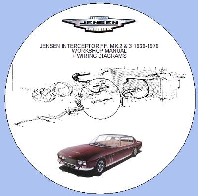 jensen interceptor ff mk 2  3 19691976 workshop manual  wiring diagrams   ebay