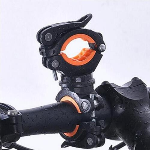 Cycling Bike 360° Bicycle Flashlight Mount Holder For Bicycle Torch Clip Clamp