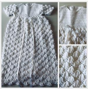 Handmade Crochet Christening Gown Ebay