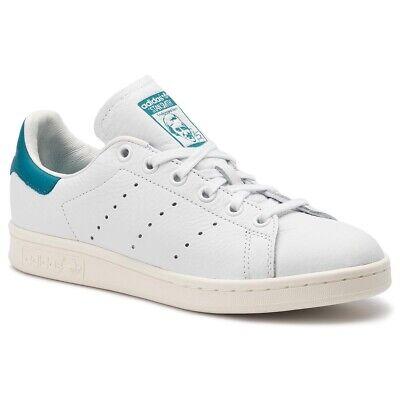 Adidas Stan Smith Taille 44 Blanc Bleu Cyan ( Ftw White Acttea Offwhite ) | eBay