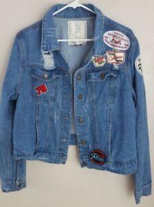 140a9213dbc Angel Kiss LA Womens Denim Jean Jacket w  Patches Plus size 1X