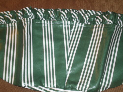 Hunter Green Stripe Longaberger 1998 Christmas Glad Tidings Basket Liner SU