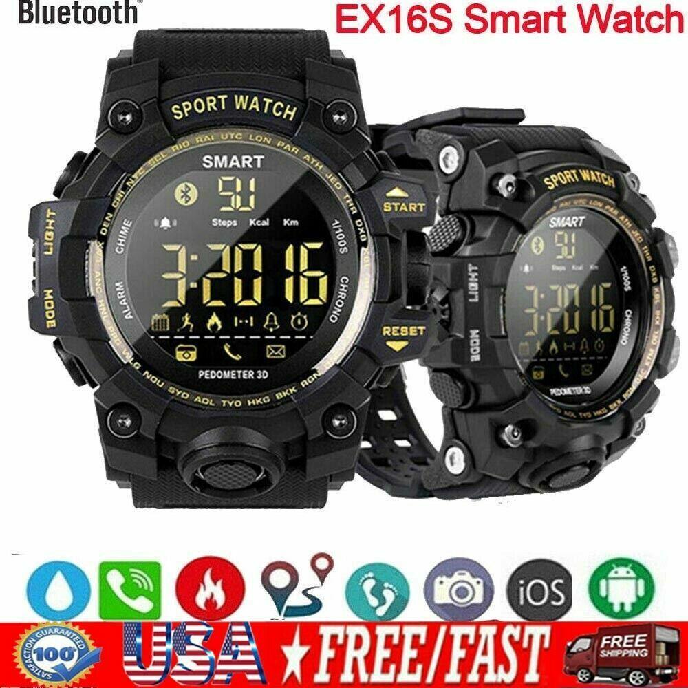 Man Military Tactical BT Smart Watch Fitness Tracker Sport Waterproof 50M USA 50m Featured fitness man military smart sport tactical tracker watch waterproof