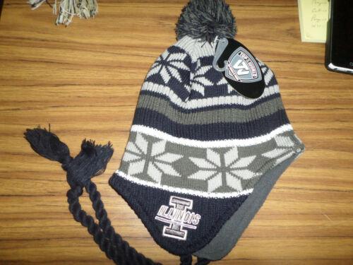 NCAA Team Apparel University of Illinois Knit Tassell Hat NWT youth size 8-20